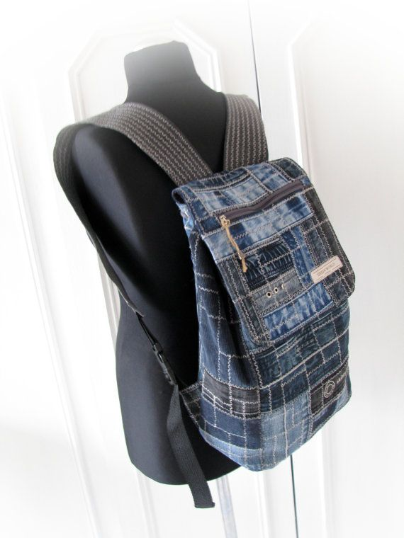 jeans  backpackdenim backpackrucksack handmade by klaptykart