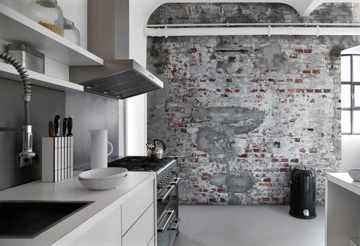 Inspirerande kök med fototapet från kollektionen Fashion 445404. Klicka för att se fler fina tapeter för ditt hem!