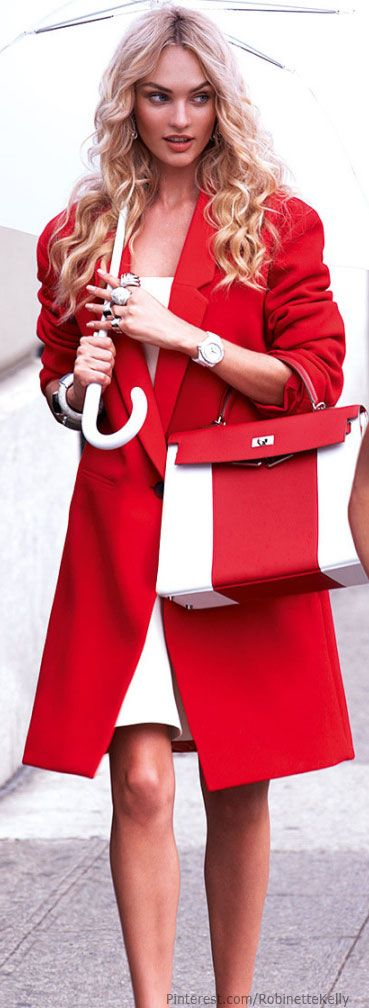 Street Style | Candice Swanepoel | Vogue Mexico, Sept 2013  Matching coat with purse = LOVE