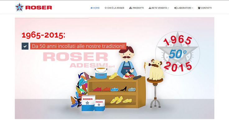 Il sito ufficiale della Roser, azienda produttrice di adesivi e colle perspecializzata nella produzione di colle e mastici di qualità, per i settori calzaturiero, del mobile, dell'elettrodomestico e Hi-fi.