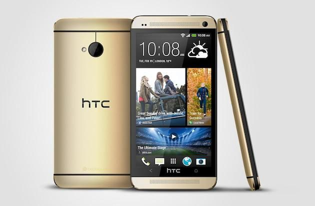 HTC reveals another gold-colored One, this time without the 18-carat finish