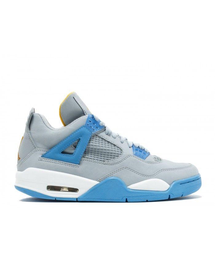 a078254c5859d7 Air Jordan 4 Retro Ls Mist Blue University Gold Leaf White 314254 ...