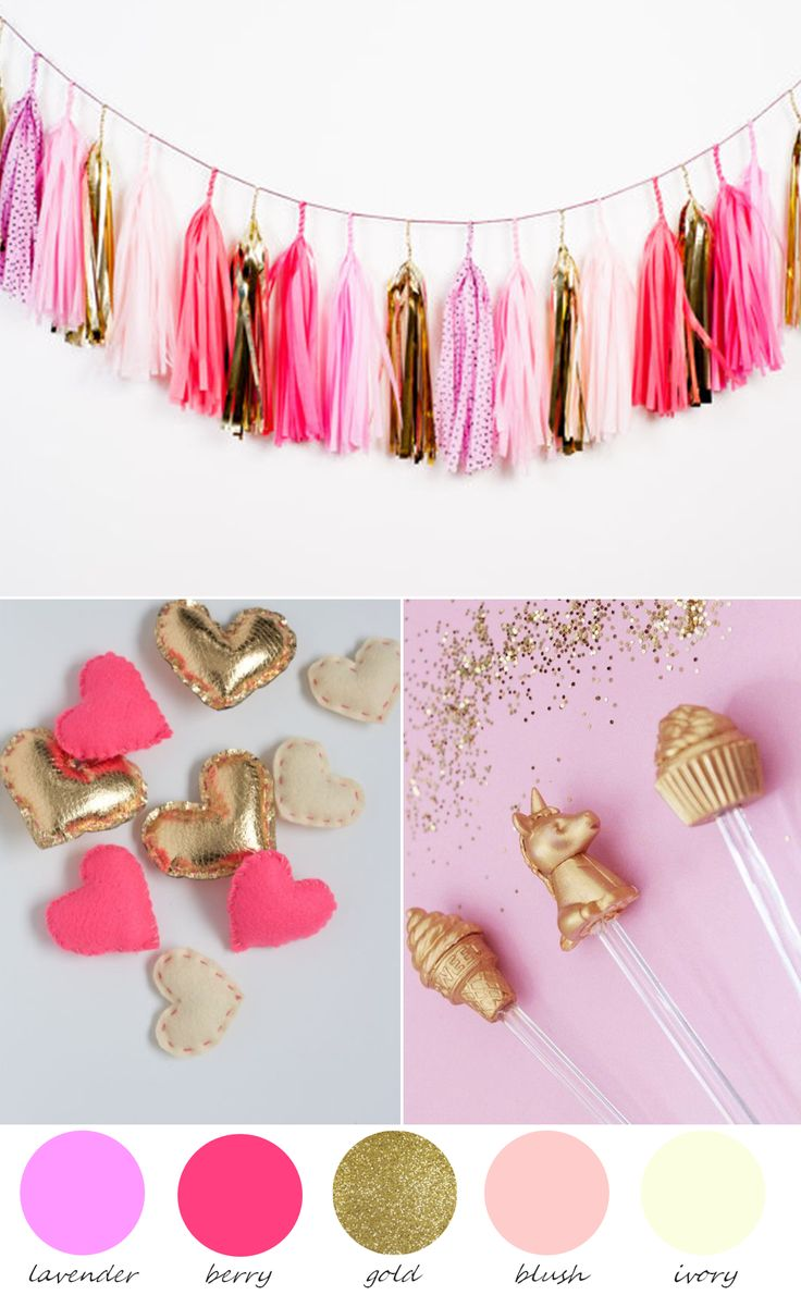 Party Palette | Shades of Lavender, Pink and Gold http://www.theperfectpalette.com/2014/01/party-palette-shades-of-lavender-pink.html