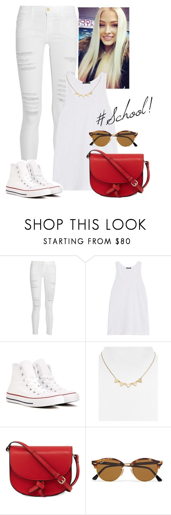 2017/235 by dimceandovski on Polyvore featuring Theory, Frame, Converse, KC Jagger, Phyllis + Rosie and Ray-Ban