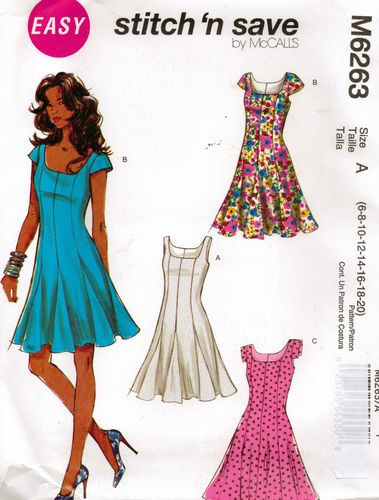 From UK Sewing Dressmaking Pattern Lady's 6-20 Dress #6263   eBay