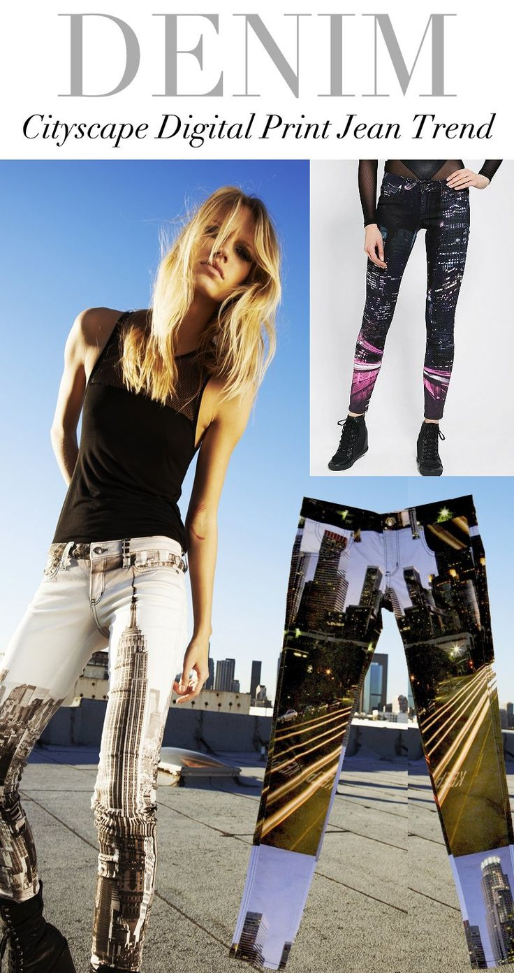 TREND COUNCIL- #Denim Cityscape Digital Print #Jean Trend