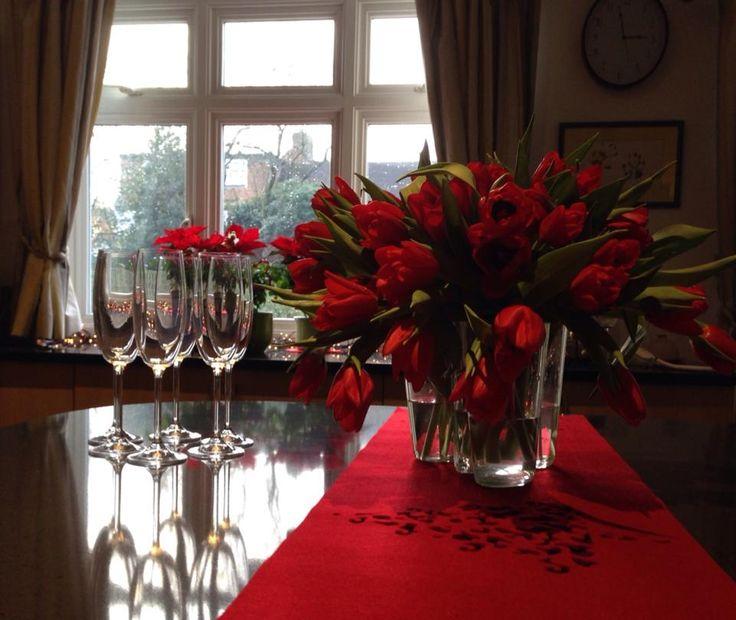 Aalto vase with tulips