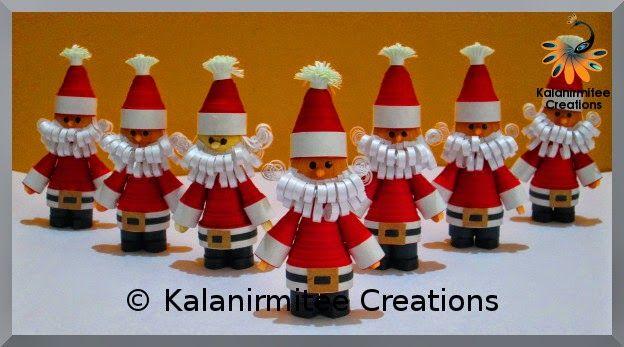Quilled Miniature Santa Claus - Visit http://www.kalanirmitee.com