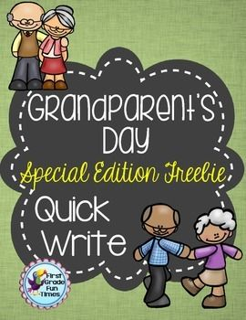 Grandparent's DayQuick WritesGrandparent's Day is September 7th!Click HERE to see an awesome Grandparent's Day craft from my friend at Creation Castle!We use these as weekly quick writes for morning work. After we spend some time working on answering in complete sentences, students are able to write one or two sentences to quickly respond to the prompts.