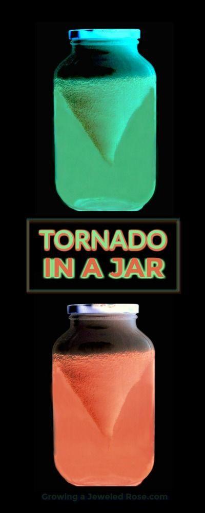 AMAZING KID SCIENCE: Make a glow-in-the-dark tornado in a jar! #scienceforkids #kidsactivities #kidscrafts #tornadoinajar