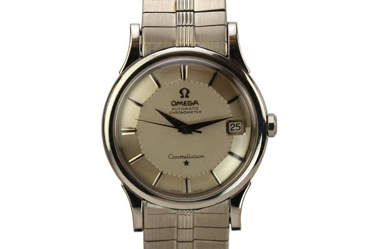 1960 Omega Constellation White Gold Watch For Sale - Mens Vintage Date Time only -- Matthew Bain