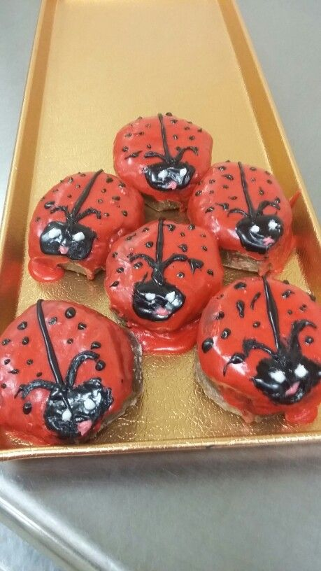 Ladybug donuts