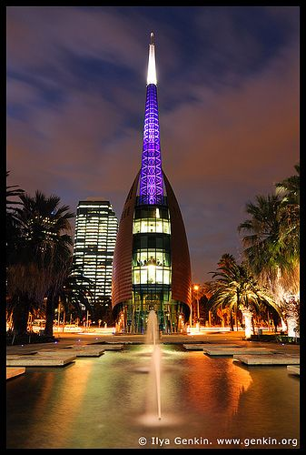 The Swan Bell Tower at Night, Perth, WA, Australia