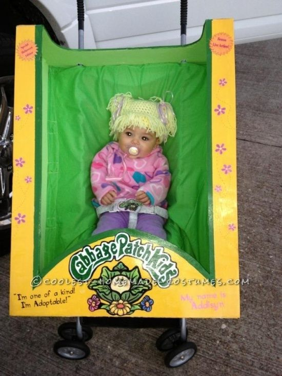 Homemade Cabbage Patch Doll Costume | For Kids Ideas: this made me choke laughing!! Freaken adorable! I had a cabbage patch kids costume when I was a little girl that I demanded to wear two years in a row for Halloween.. Love it! *Jo*