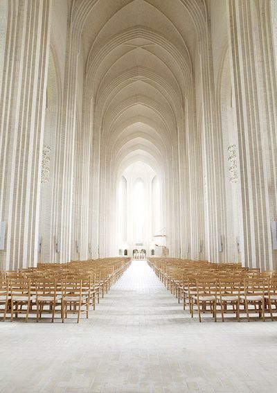 Grundtvig's memorial Church in Copenhagen, Denmark