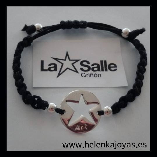 pulsera macrame plata La Salle
