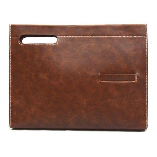 Mens Clutch Bag Brown Clutch Bags for Men KTZ 232