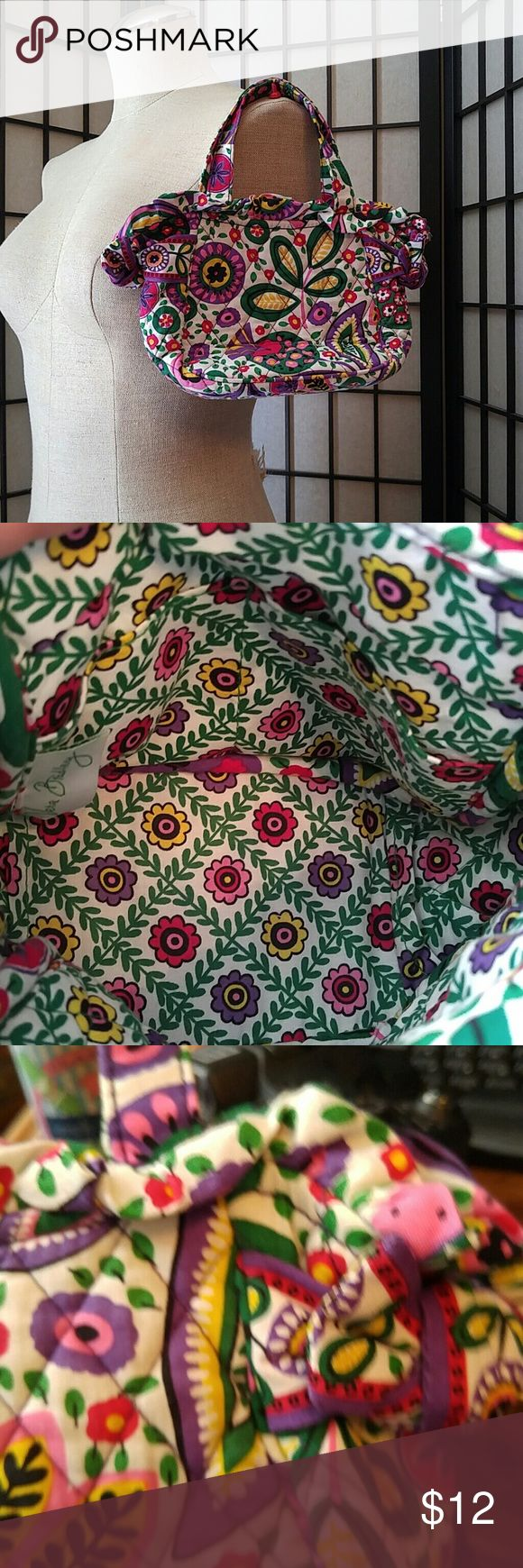 Child Size Vera Bradley Tote Bag Pocket Book Vera Bradley Tote Bag/Pocket Book. Child Size.  Magnetic Closure. In Like New shape, no rips, stains or tears. Vera Bradley Accessories Bags