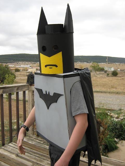 DIY Superhero Costume : DIY Thrifty Thursday Halloween Style Batman Minifig :DIY Halloween DIY Costumes