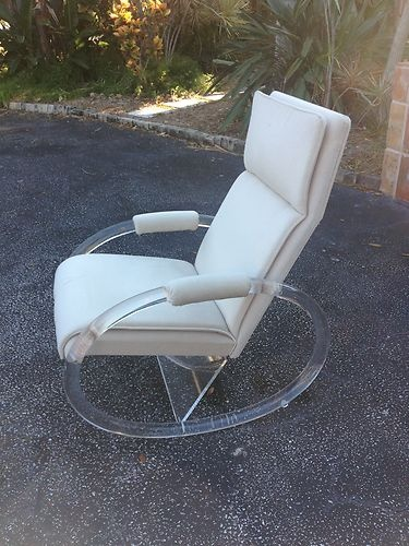 lucite rocking chair hollis pace lion in frost post mid century modernism rare ebay