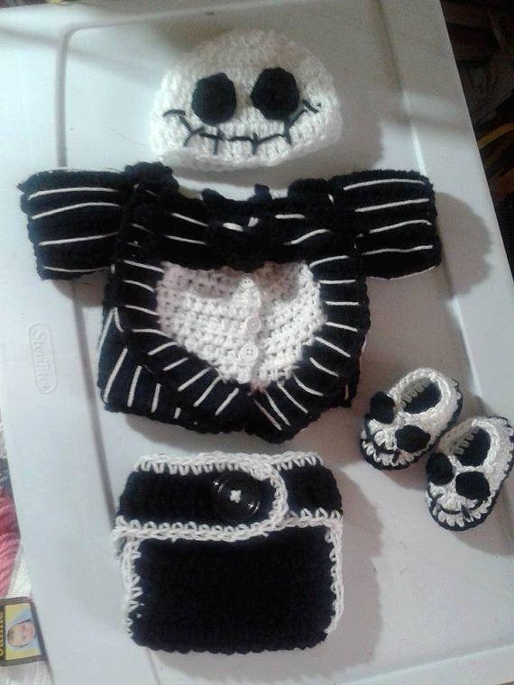 Crochet Nightmare Before Christmas Baby Jack by DustysCrochetProps