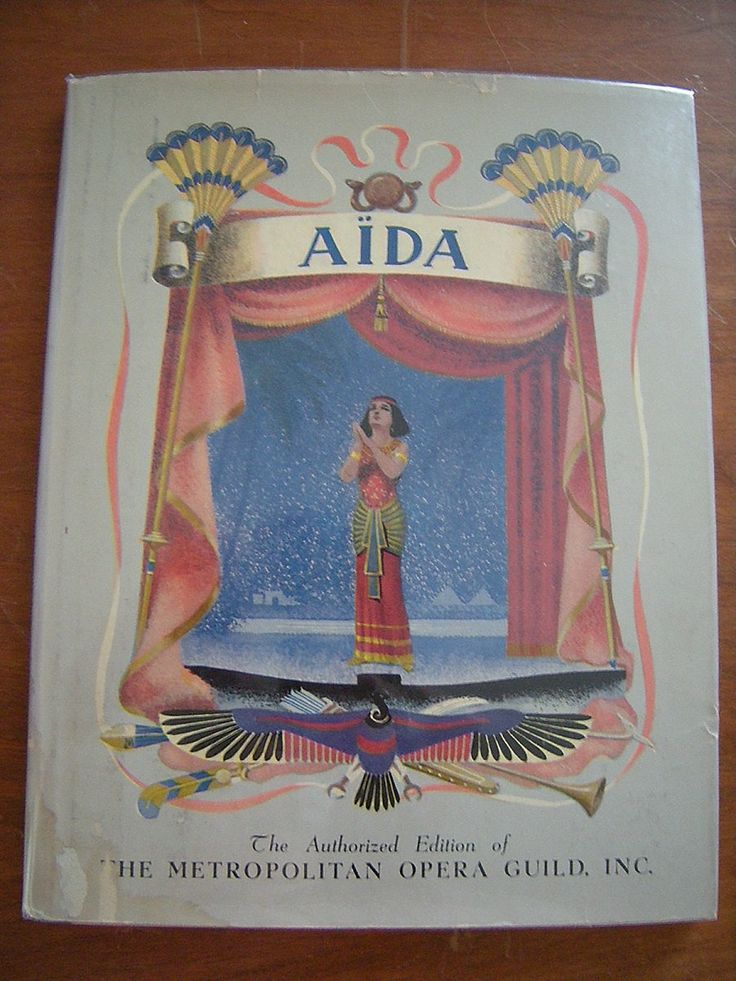 Story of Aida Verdi's Greatest Opera by VintageTreasuresBB on Etsy