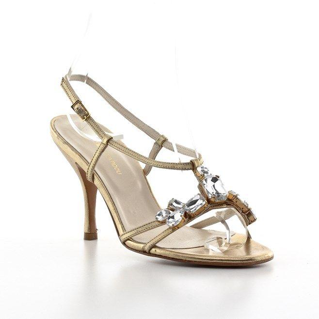 Πέδιλα Kαλογήρου Private Label Νυφικά Χρυσό | All About Shoes