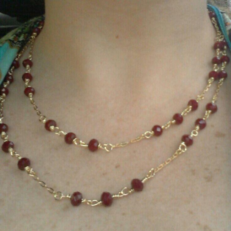 #collar #necklace #cristal #vinotinto