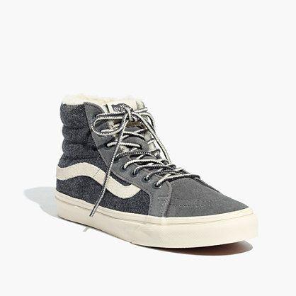 Madewell x Vans® Weatherized Classic Sk8-Hi High-Top Sneakers in Grey Flannel