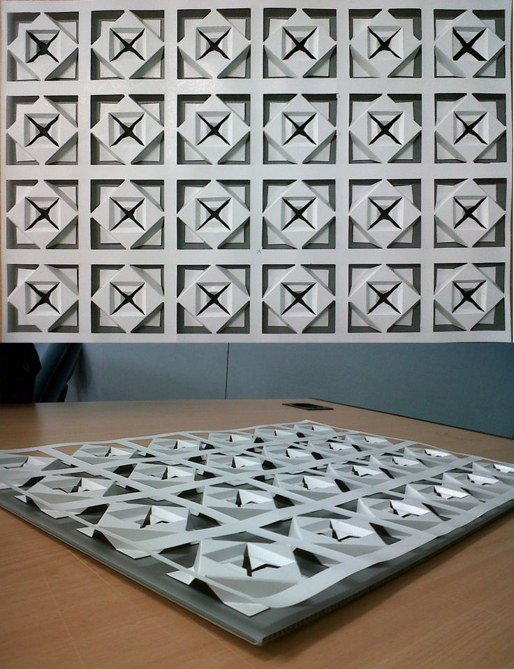This is Nirmana Ruang. Used art carton size A3 and manual cutting only. Repetition from 1 module to make a dimension.