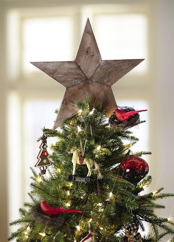 "Reclaimed Wood Tree Topper / Home Decorators / 23"" H x 15"" W - think I like it even though I usually like lighted tree toppers."