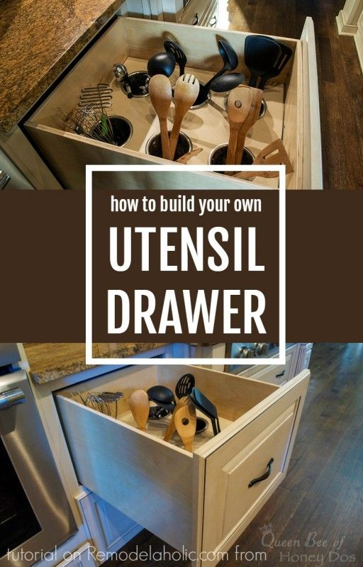 This is brilliant! Turn a deep drawer into an upright utensil organizer. No fancy tools required, and for under $40!