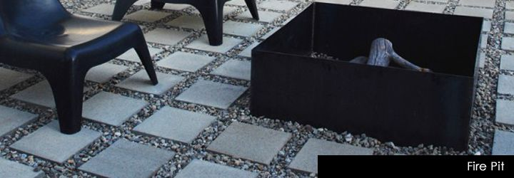 Modern Landscape? Pebbles fill my backyard and I am looking for an additional way to make them look chic...love this paver idea!