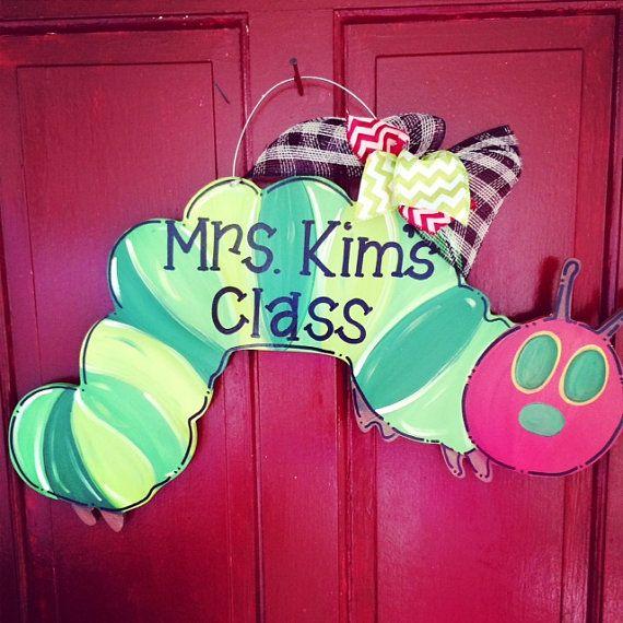 Caterpillar Door Hanger Teacher Appreciation by JustPlainADoorAble