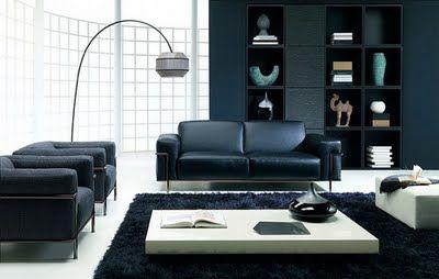 Decoración Minimalista y Contemporánea: Decoración de salas en color negro y gris