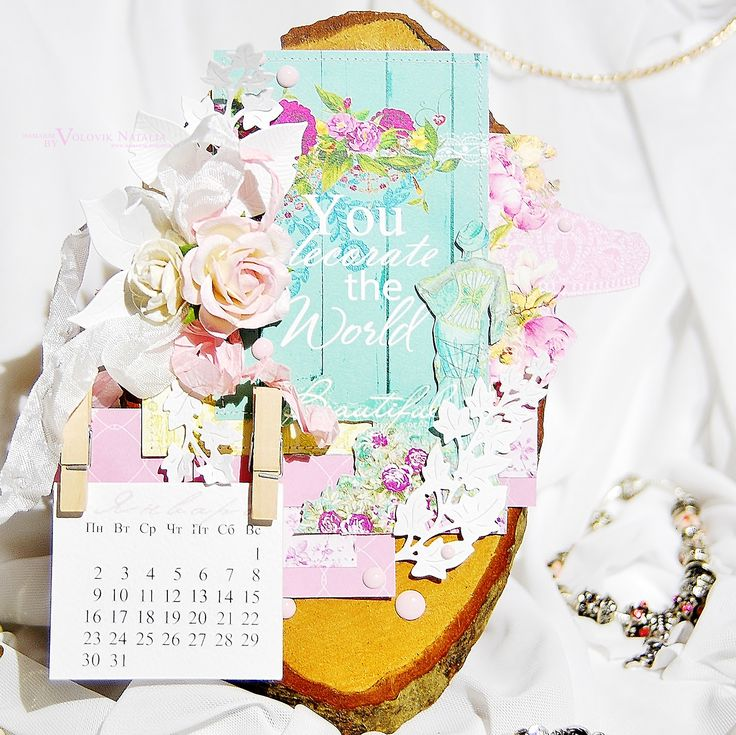 ScrapBerry's: calendar by Natalia Volovik with Cherished Jewels collection