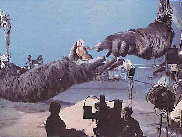 Jessica Lange filming King Kong, 1976.