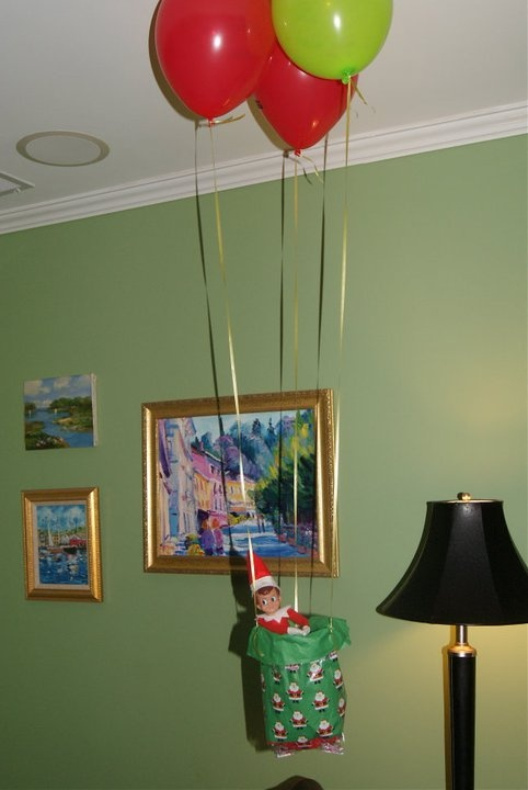 Elf hot air balloon ride elf on the shelf ideas for Elf on the shelf balloon ride
