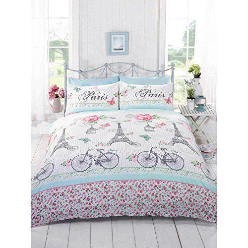 Paris Chic Bedding.  A very pretty design for a Paris themed bedding set.  #girlsbedding