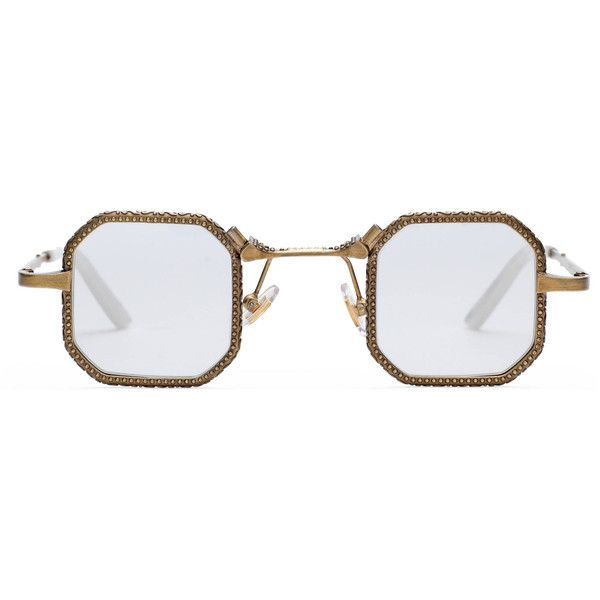Gucci Square-Frame Metal Glasses ($515) ❤ liked on Polyvore featuring men's fashion, men's accessories, men's eyewear, men's eyeglasses, accessories, eyewear, men and gucci mens eyeglasses