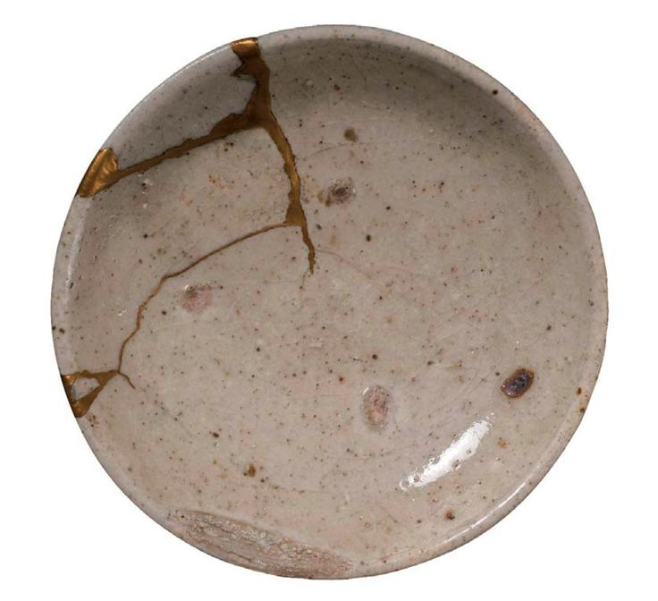 Kintsugi, the Japanese wabi-sabi art form that involves repairing broken pottery with lacquer - sometimes even with gold.