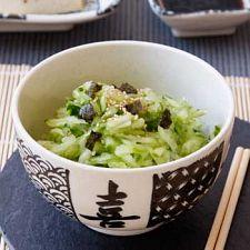 Japanese Salad- cucumbers, soy sauce, rice vinegar and ginger :) Yum! ~GirlNesting
