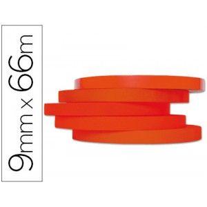 Pack de 16 cintas de embalaje rojas para máquinas selladoras o precintadoras de bolsas con resultados permanentes, resistentes y duraderos. Medidas: 66 m x 19 mm.