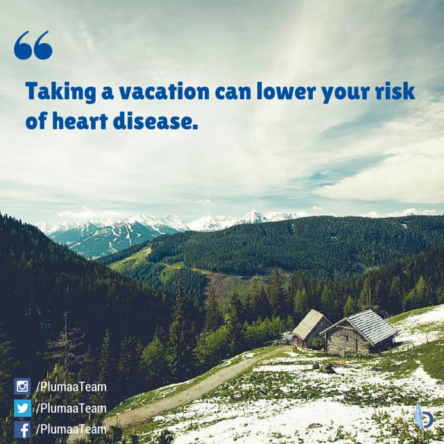 Good way to be #healthier! Take a #vacation and #travel! Source: http://www.buzzfeed.com/laraparker/interesting-facts-that-will-make-you-want-to-travel#.xgXKE3Lzjo