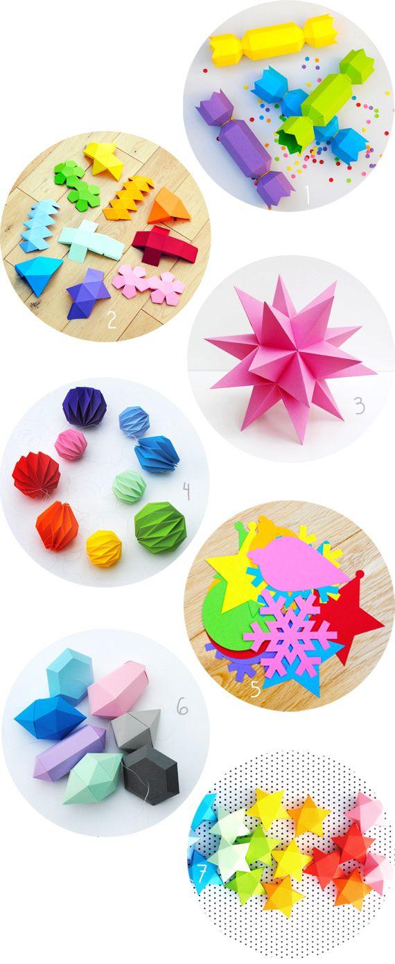 DIY paper decorations // MiniEco