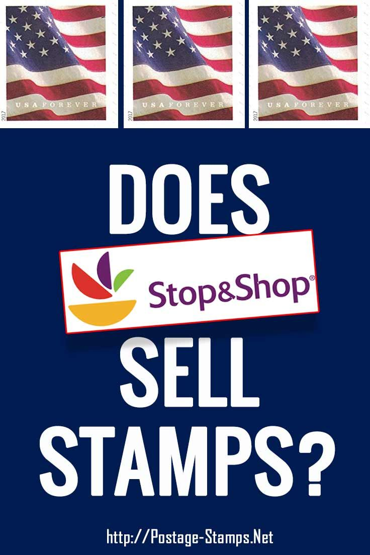 Does stop and shop sell stamps buy postage stamps sell
