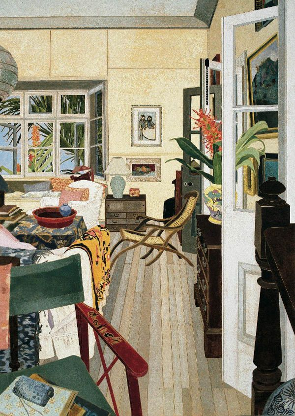 Interior with Red Ginger (1998), woodblock painting by Cressida Campbell