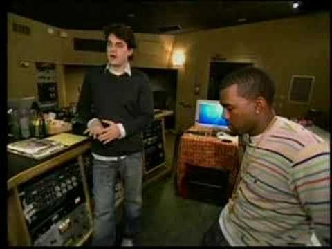 Kanye West and John Mayer recording Bittersweet...hahaha this makes me laugh
