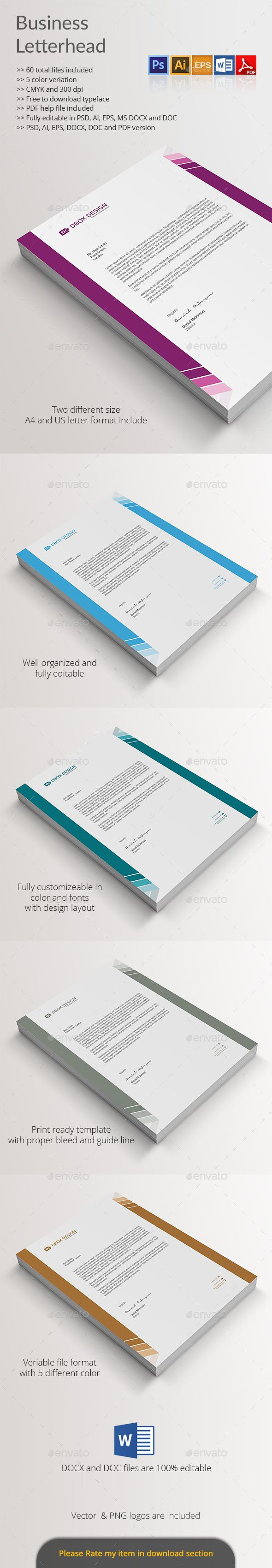 Business Letterhead Dimensions Letterhead 15 Free Vector