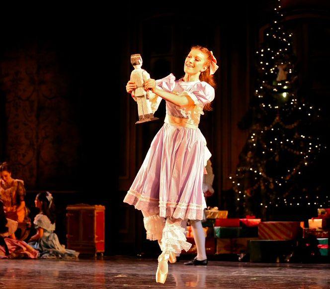 the nutcracker in Act 1 of Gelsey Kirkland Ballet's The Nutcracker ...